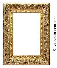 顏色, 葡萄酒, 框架, 金, 圖片