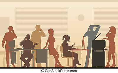 顏色, cellphone, 辦公室