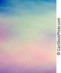 顏色, grunge, 天空, 浪漫