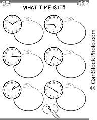 顔, 教育, 仕事, 子供, 時計
