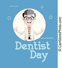 顔, 朗らかである, 歯科医, ベクトル, 表現, 漫画, 幸せ