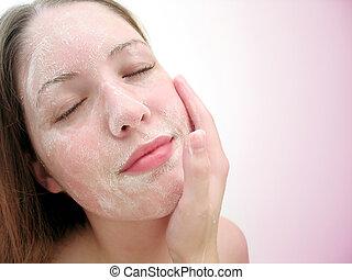 顔, 洗浄, 4