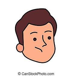 顔, 特徴, 人, avatar