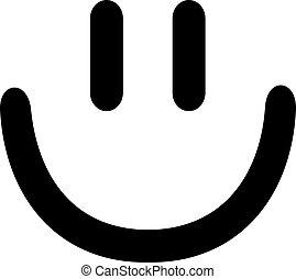 顔, smiley, 笑い, アイコン