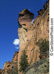 顔, spire, サル, 岩