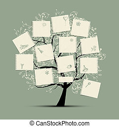 願い, デザイン, あなたの, 木