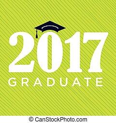 類別, ......的, 2017, 祝賀, 畢業生, 印刷術