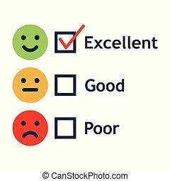 顧客服務, 滿意, 調查, 形式