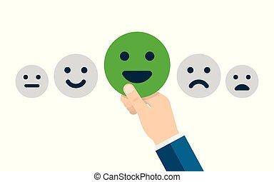 顧客服務, 滿意, 調查, form., 質量管理