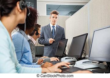 顧客, オフィス, サービス, 代表者, マネージャー, 指示