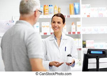 顧客, シニア, 薬剤師, 薬局