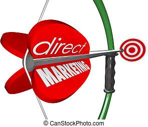 顧客, ターゲット, arow, マーケティング, 監督しなさい, 弓, 見込み, 新しい
