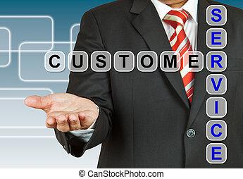 顧客, ビジネスマン, サービス, 言葉遣い