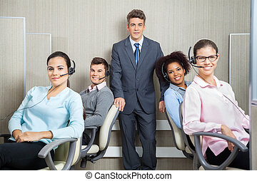 顧客, マネージャー, サービス, オフィス, 代表者