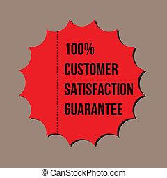 顧客, 保証, フォーマット, 100%, 満足, ベクトル