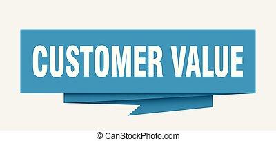 顧客, 價值
