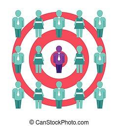 顧客, 價值, optimization, 矢量, 概念, 在, 套間, 風格