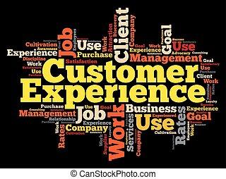 顧客, 単語, 経験, 雲