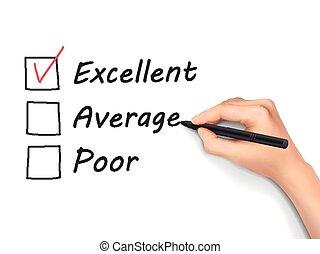 顧客, 形態, サービス, 選択, 優秀である, 評価