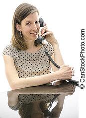 顧客, 従業員, 呼出し 中心, 話すこと
