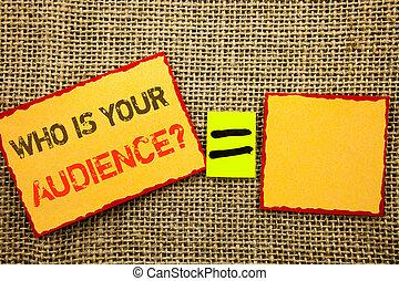 顧客, 所有するため, ターゲット, サービス, 写真, 方程式, question., 聴衆, 付せん, 書かれた, ペーパー, テキスト, クライアント, 背景, 単語, 概念, 研究, 執筆, あなたの, textured