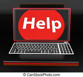 顧客, 提示, 助け, ラップトップ, ∥あるいは∥, 助力, helpdesk, 援助, サポート