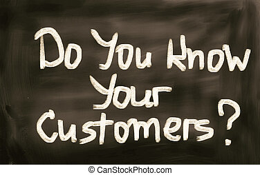 顧客, 概念, あなたの, 知りなさい, あなた