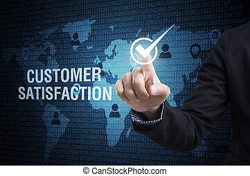 顧客, 概念, サービス, ビジネス, reliability., 品質, 効率, satisfaction., 点検, 人