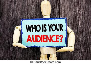 顧客, 概念, ターゲット, サービス, 木製である, テキスト, 提示, question., 意味, 研究, メモ, バックグラウンド。, 書かれた, クライアント, 聴衆, 保有物, 執筆, 付せん, 彫刻, あなたの