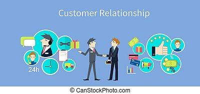 顧客, 概念, デザイン, 関係
