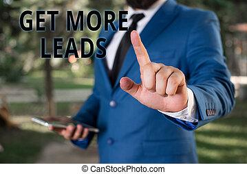 顧客, 概念, 単語, ビジネス, 指すこと, 得なさい, テキスト, 販売, 執筆, him., 指, 持ちなさい, leads., 前部, ビジネスマン, 改良しなさい, ターゲット, あなたの, もっと