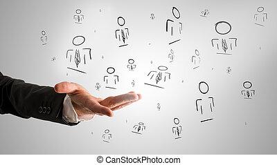 顧客, 概念, 管理される, 関係