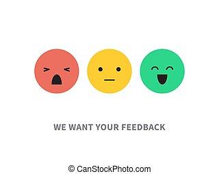 顧客, 概念, 隔離された, イラスト, 満足, ベクトル, 白