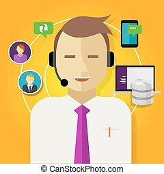 顧客, 管理, 中心, 関係, 呼出し, crm