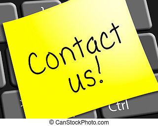 顧客, 表す, サービス, イラスト, 連絡, 私達, 3D
