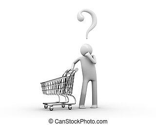 顧客, 買い物, ほしい, today?, 何か, choise: