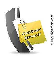 顧客, 電話, 概念, サービス