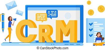 顧客, concept., 管理, crm., 関係