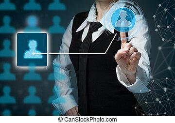 顧客, (crm), 顧客, 管理, 建物, 関係, マーケティング, segmentation, チーム, 心配, concepts.
