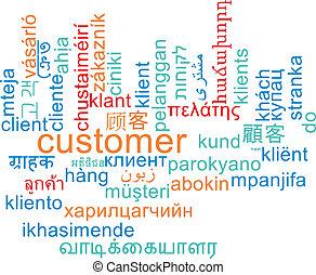 顧客, wordcloud, 概念, multilanguage, 背景