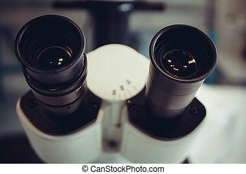 顯微鏡, 人物面部影像逼真, 背景, 目鏡