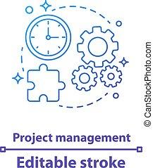项目管理, 图标, 概念
