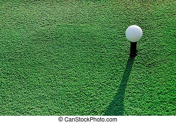 领域, 球, 绿色的高尔夫球, 草