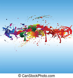 颜色, 涂描, splashes.