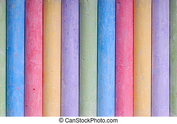 颜色, 粉笔, 线