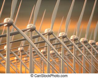 風は 耕作する, 世代に電力を供給しなさい, 電気である, エネルギー