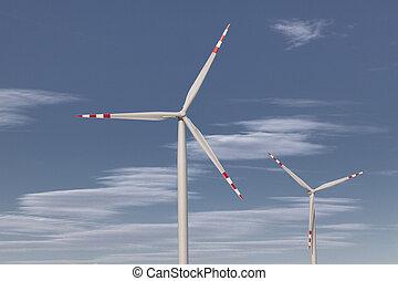 風タービン翼車, エネルギー源