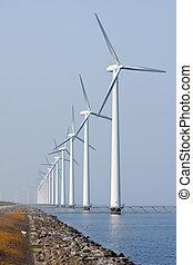 風タービン翼車, 海, 沖合いに, オランダ語