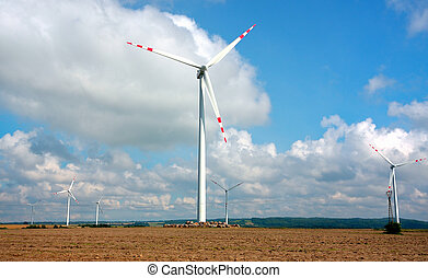 風タービン翼車, 農場, -, 代替エネルギー, 源