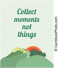 風景, カラフルである, 自然, 引用, 動機づけである, ポスター